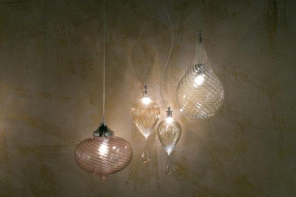 lampadari lampade vetro soffiato murano artigianali